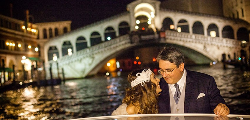 Magic wedding in Venice