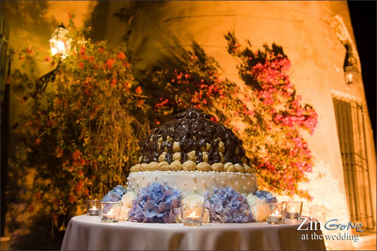 Italian wedding cake in Rome