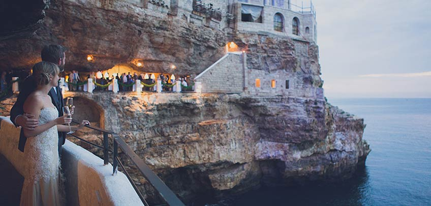 Wedding at Grotta Palazzese in Polignano Apulia