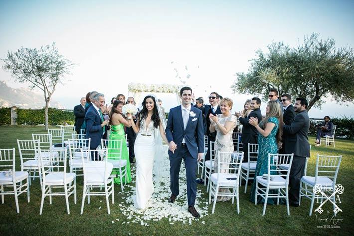 Wedding ceremony in Ravello Villa Cimbrone