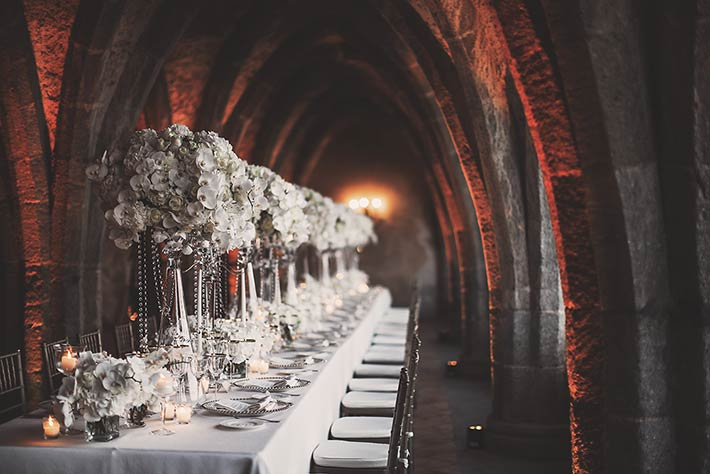 Wedding reception in Ravello Villa Cimbrone