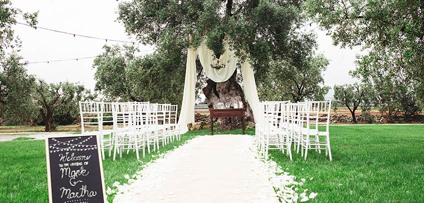 American wedding in Apulia