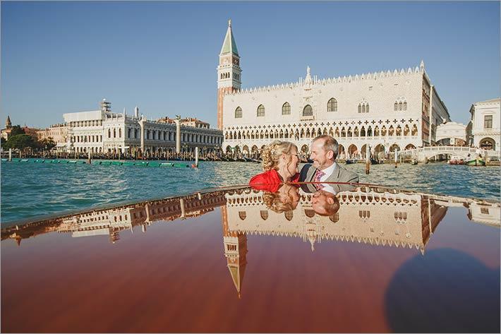 winter wedding in Venice