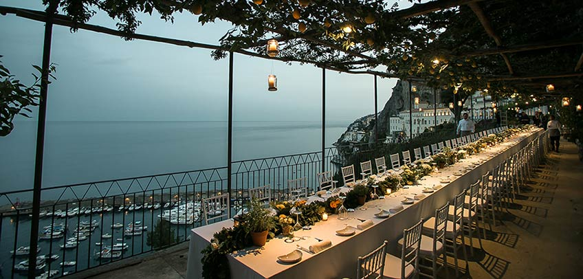 Wedding party on Amalfi Coast