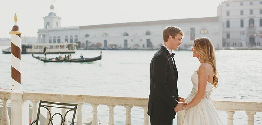 Gondola wedding ceremony in Venice