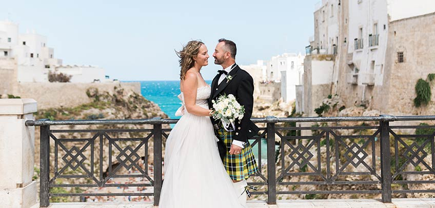 Scottish wedding in Apulia