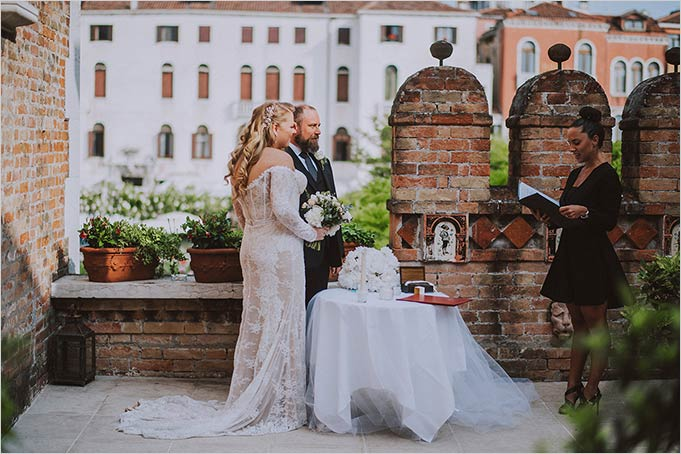Intimate Ceremony in a Venetian Garden