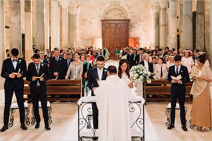 Catholic wedding in Trani, Apulia