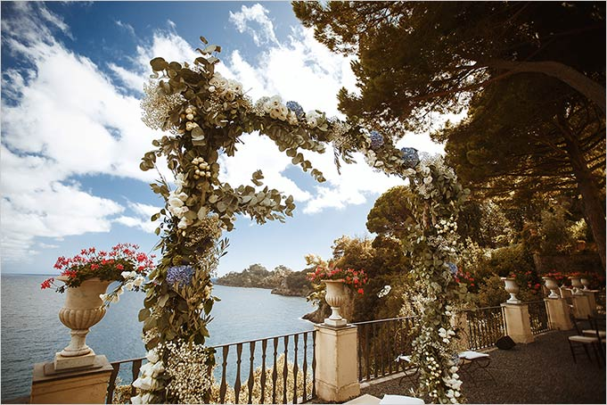Wedding ceremony at Villa La Cervara in Portofino