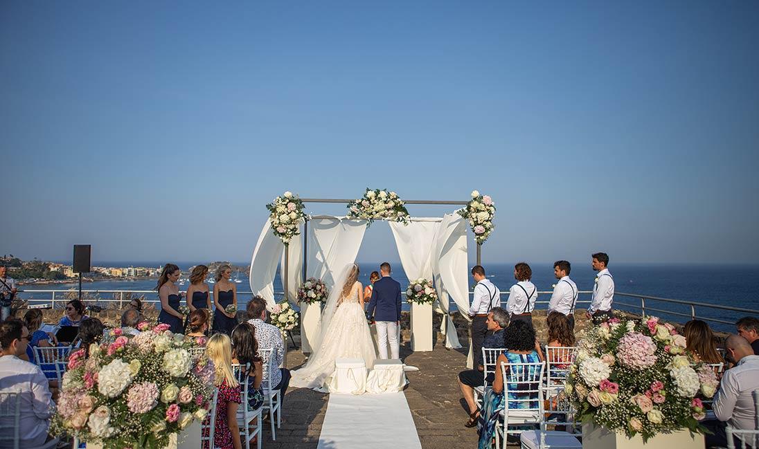 Seaside wedding in Sicily