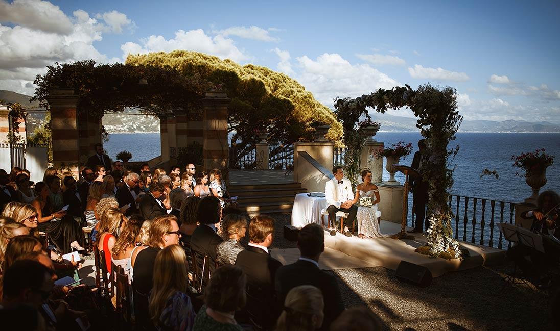 Seaside wedding on Italian Riviera