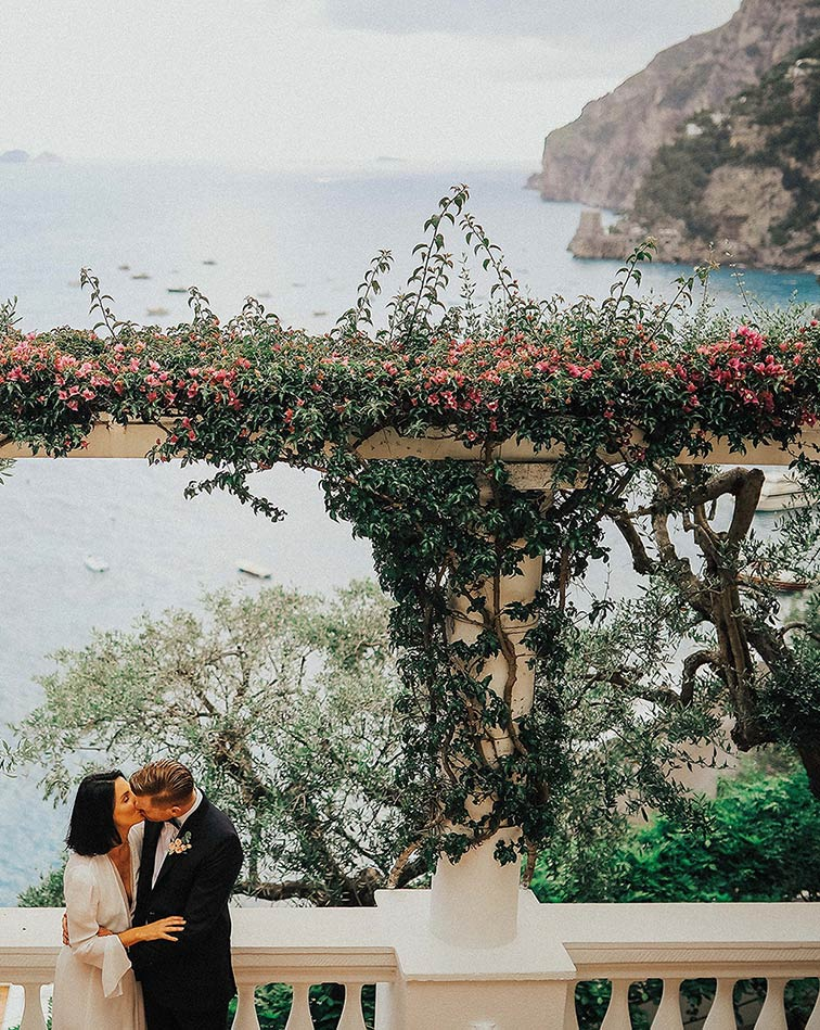 Seaside wedding on Amalfi Coast
