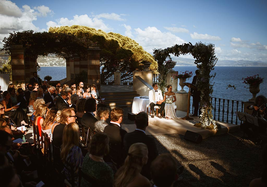 Seaside wedding in Portofino, Italian Riviera