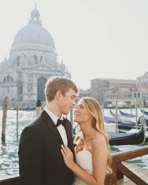 Romantic wedding in Venice
