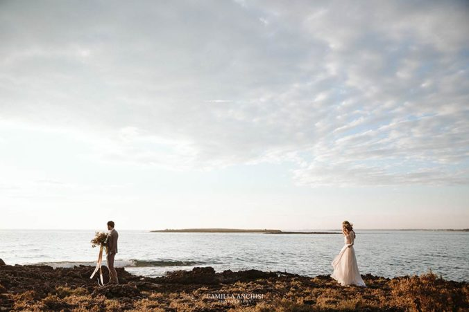 Romantic seaside wedding in Apulia
