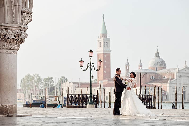 Marriage ceremony in Venice