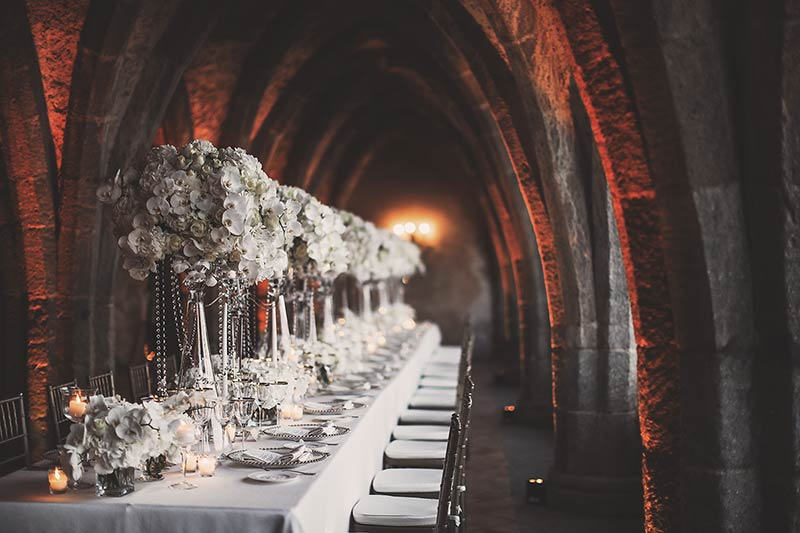 Wedding reception in Villa Cimbrone