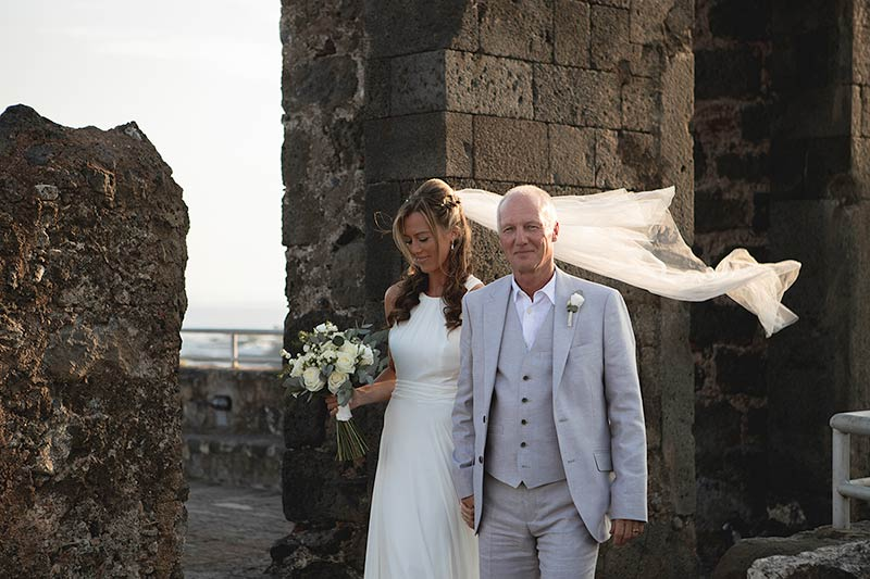Wedding ceremony at Norman Castle of Aci Trezza