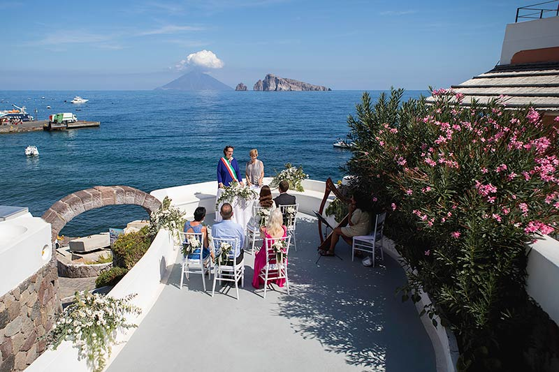 Wedding ceremony on Panarea Island, Sicily
