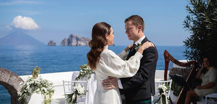 Wedding on Panarea Island, Sicily