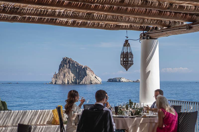 Wedding reception on Panarea Island