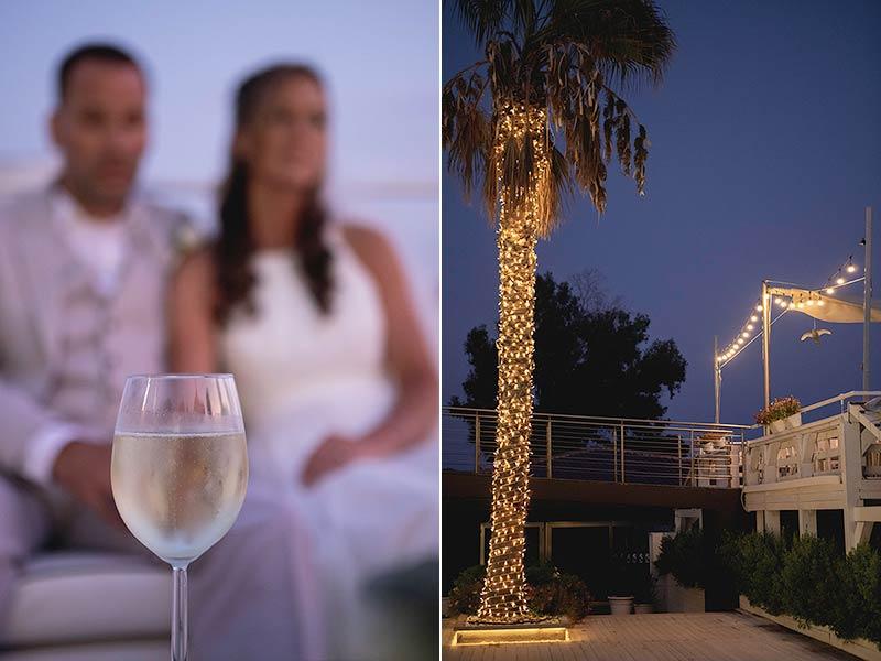 Seaside wedding reception in Taormina