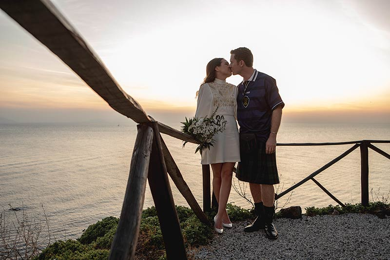 Wedding on Stromboli island, Sicily
