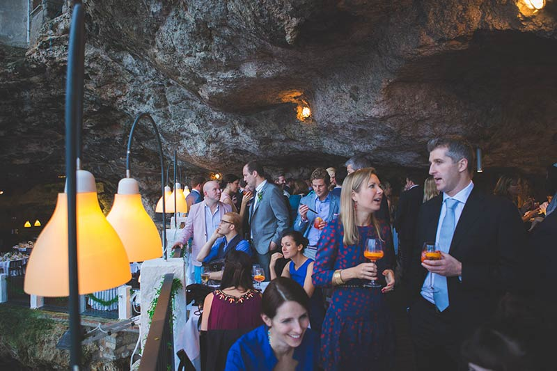 Wedding reception at Grotta Palazzese