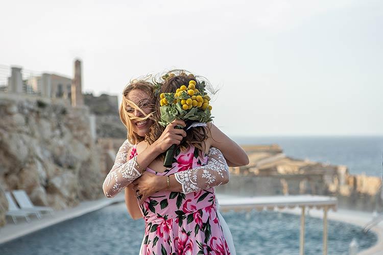 civil ceremony in front of beautiful Sicilian sea