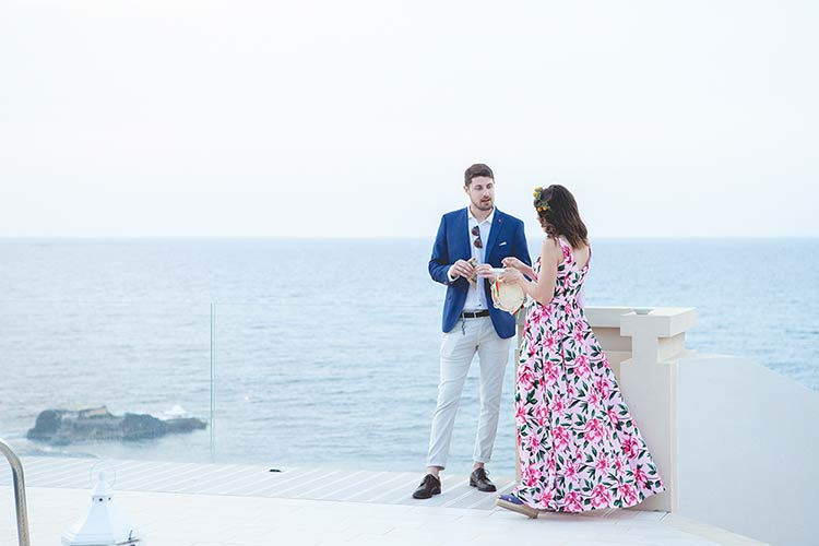Wedding reception in Sicily overlooking the sea