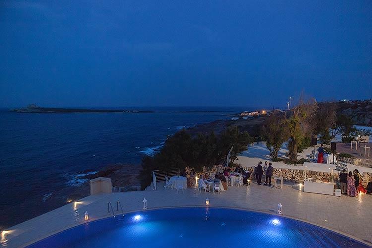 Wedding reception in Sicily overlooking the sea