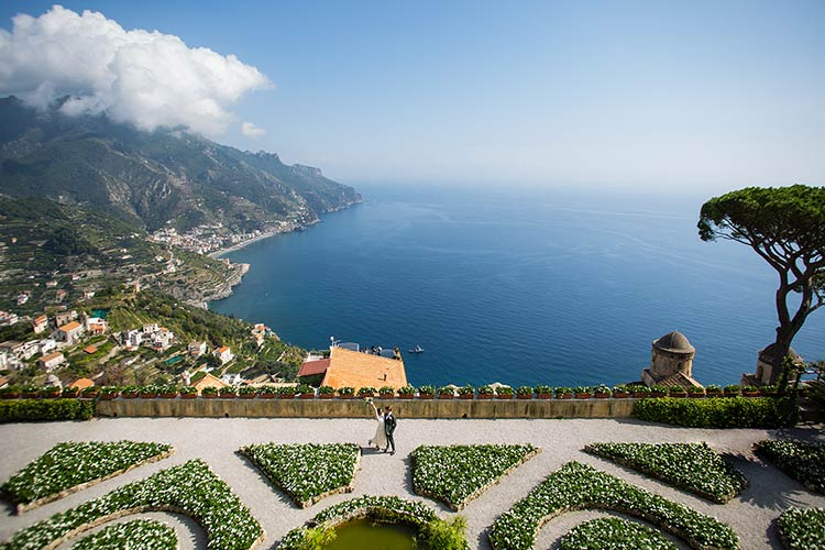 intimate wedding in Ravello