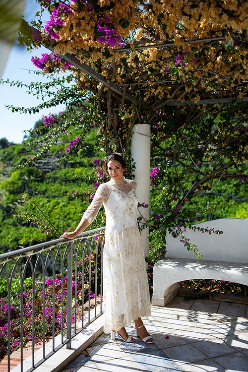 romantic wedding dinner in Ravello