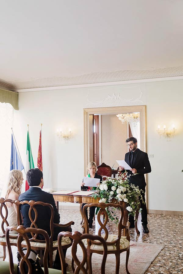 civil ceremony at Palazzo Cavalli